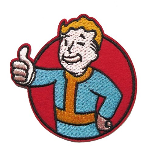 Athena Fallout Thumbs Up Moral 7,6cm bestickt Nähen Patches Applikation ()