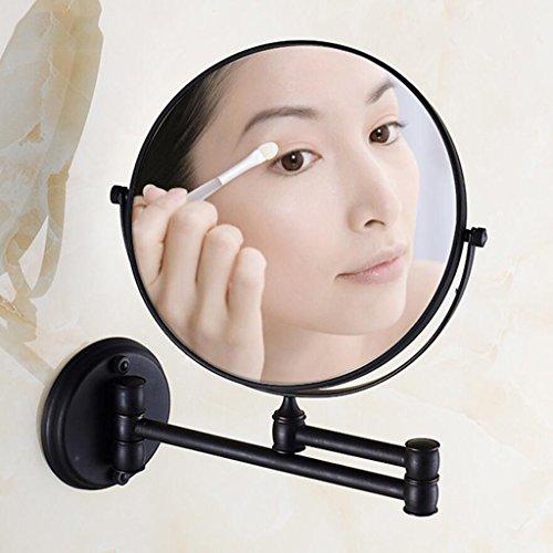 Badezimmerregal Xuan - Worth Having Alle Bronze Retro Schönheitsspiegel Retractable Schminkspiegel Wandbehang Lupe -
