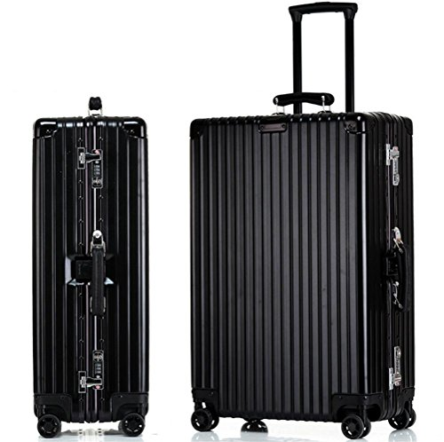Bagagli della cassa ruote telaio in alluminio Trolley Caster Universal Travel , 1 , 22 inch - 22 Pelle Mm Brown