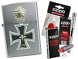Zippo Eisernes Kreuz Ritterkreuz 1939 mit Zippo Zubehör Auswahl und L.B Chrome Stabfeuerzeug (mit Zubehör B)