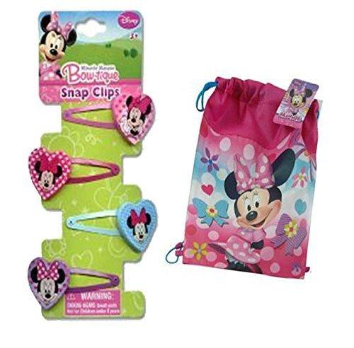 Disney Jr. Minnie Mouse Bow-Tique Girls Hair Clips! Plus Bonus Over the Shoulder Sling Bage Tote! by (Jr Disney)