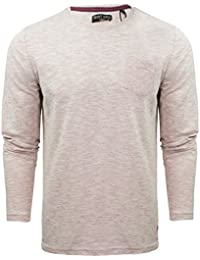 MENS BRAVE SOUL HOFFA SPACE DYE LONG SLEEVE SLUB TOP WITH POCKET IN 3 COLOURS