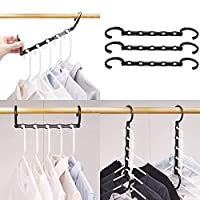 HOUSE DAY Magic Hangers Space Saving Clothes Hangers Organizer Smart Closet Space Saver