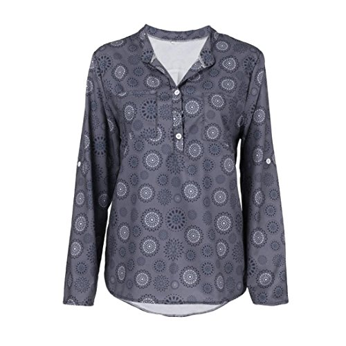ESAILQ Damen Lose Asymmetrisch Sweatshirt Pullover Bluse Oberteile -