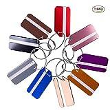 Etiquetas de Equipaje ,Maleta Etiquetas Multicolor de Aluminio con llavero y cables de bBoqueo Mochila Maleta de Equipaje 9pack