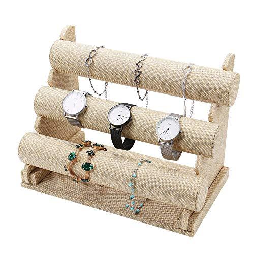 Schmuck Ständer Drei-Klassen-Schmuck-Ausstellungsstand Abnehmbarer Schmuck-Halter-Organisator Schmuck Geschäft Aufsatz- Ausstellungsstand-Armband-Armband-Uhr-Standplatz-B1 -