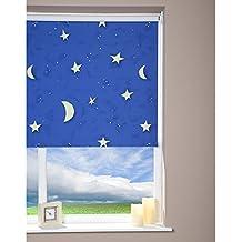 Estor büscher cadena 62 x 180 cm azul cielo estrellado estor para habitación infantil