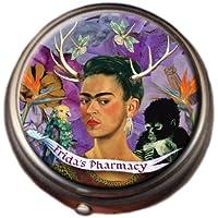 Frida's Pharmacy Frida Kahlo Pill Box - Compact 1 or 2 Compartment Medicine Case preisvergleich bei billige-tabletten.eu