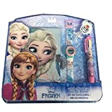Disney - Reine des Neiges Set Montre Digital + Stylographe 6C + Agenda, WD17598