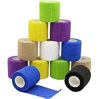 YuMai Haftbandage Selbsthaftende Bandage Erste Hilfe Klebeband Wrap 5 cm × 4,5 m Mehrfarben FDA genehmigt – 12... preisvergleich bei billige-tabletten.eu