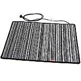 Mi-Heat Fußwärmer Heizmatte Heizteppich 50x75cm Teppichheizung Wärmematte Heating Mat Carpet Chenille Schwarz