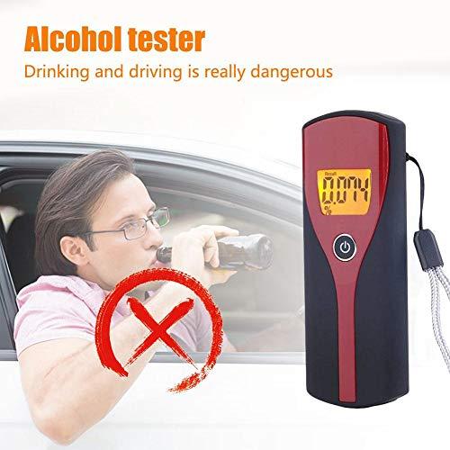 Todaytop Alkoholtester Digitaler Alkohol-Alkoholtester mit LCD-Display Tragbarer, professioneller Halbleiter-Sensor-Alkoholtester zur Verhinderung von Trunkenheit am Steuer