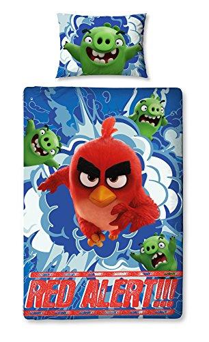 Angry Birds Kinder Wende Bettwäsche Set (Einzelbett) (Bunt) (Slip Elle)