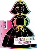 Kratzelzauber Für Mädchen (Kratzelbuch in Prinzesinnenform): Formgestanztes Kratzelbuch in Prinzessinnenform. Mit Holz-Kratzstift, 20 Kratzelseiten, 20 Malanregungen und 40 Skizzenseiten.