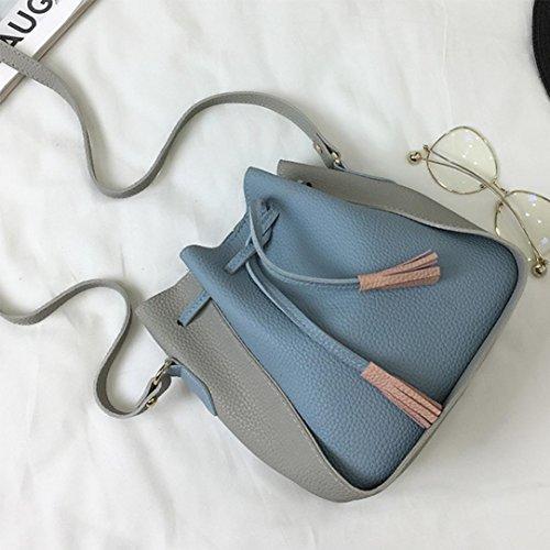 Borse donna borsa, le donne di moda pu pelle borsa Softback spalla borsa tote signore borsa borsa Messenger by Kangrunmy azzurro del cielo