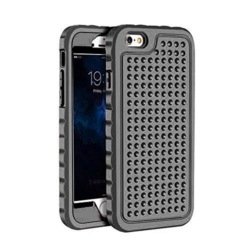 iPhone 6 Plus Coque,iPhone 6S Plus Coque,Lantier Rugged Design unique antidérapant Antichoc 3 en 1 Housse de protection pour iPhone 6 Plus /6S Plus 5.5 inch Noir Black