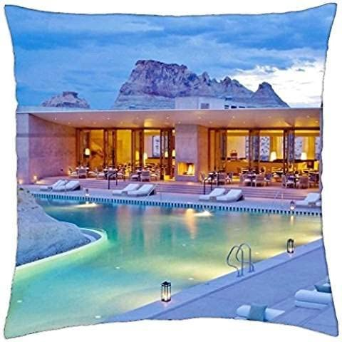 Romantic Swimming Pool Design at Amangiri Resort and Spa in Utah - Throw Pillow Cover Case (18 - Pool Spa Design