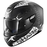 SHARK Casque Moto Skwal Trooper Mat KAW, Noir/Blanc, Taille L