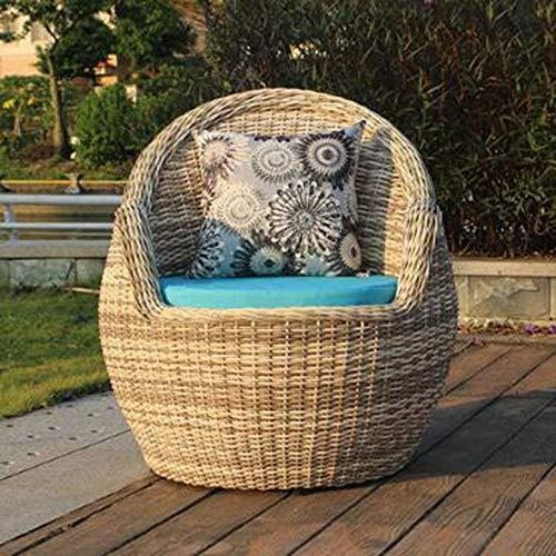 Wicker-schreibtisch-stuhl (AOLI 3-teiliges Set-Gartengarnituren Gartenmöbel Rattan Gartenmöbel Terrassenmöbel 1 Tisch + 2 Stühle Balkon)