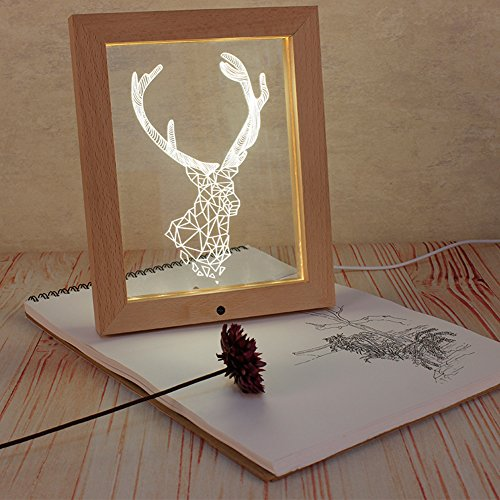 meijunter-3d-carved-wapiti-bois-photo-cadre-decoration-nuit-lumiere-led-telecommande-lampe