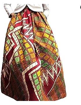 Verano de Vacaciones Partido Mujeres Manera Personalidad Oscilación Largo Faldas Casual Floja Impresión Maxi Falda...