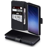 Coque Samsung S9 Plus, Terrapin Étui Housse en Cuir Véritable avec La Fonction Stand pour Samsung Galaxy S9 Plus Case - Noir