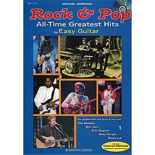 Rock And Pop All Time Greatest Hits For Easy Guitar. Für Gitarre