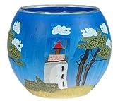 Windlicht Glas Cup Teelichthalter Kerzenhalter LEUCHTTURM an der OSTSEE Größe 9 x 11 cm als Tischdekoration …
