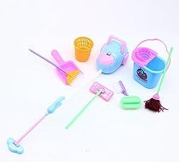 Kinder-Set mit Küchenutensilien, Puppen, Mamum Pretend Play Spielzeug-Set für Barbie Puppen (1Set = 3Stück), Farbe zufällig