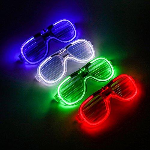 LiangHui Luminous Gläser Lustige Kaltlicht-Sonnenbrille für Weihnachten Halloween-Tanz-Requisiten