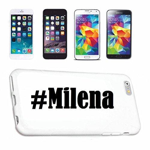 Handyhülle Samsung S7 Galaxy Hashtag ... #Milena ... im Social Network Design Hardcase Schutzhülle Handycover Smart Cover für Samsung Galaxy Smartphone … in Weiß … Schlank und schön, das ist unser HardCase. Das Case wird mit einem Klick auf deinem Smartphone befestigt