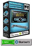 Alfa Romeo Mito DAB radio, JVC car stereo CD USB AUX player, Bluetooth handsfree
