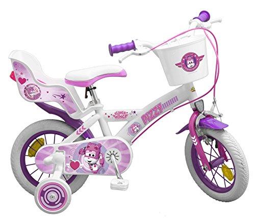 Toimsa-bicicletta per bambino sotto licenza super wings ragazza 12pollice di 3a 5anni, 1261u