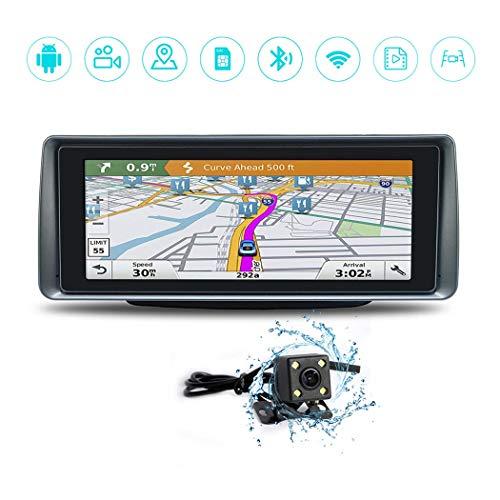 Wu's 7 Zoll-Touch Screen auf Armaturenbrett-intelligentem Fahrsystem, 1080P Doppelobjektiv-Auto-Kamera, Schleifen-Videorecorder DVR, GPS-Navigation Gps-dashboard
