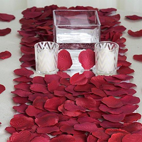 C/él/ébrations et F/êtes de Mariage P/étales de Roses Rouges en Soie 2000 Pi/èces Moments Romantiques deco table Artificielle inodore Petale de rose Parfait pour la Saint-Valentin decoration