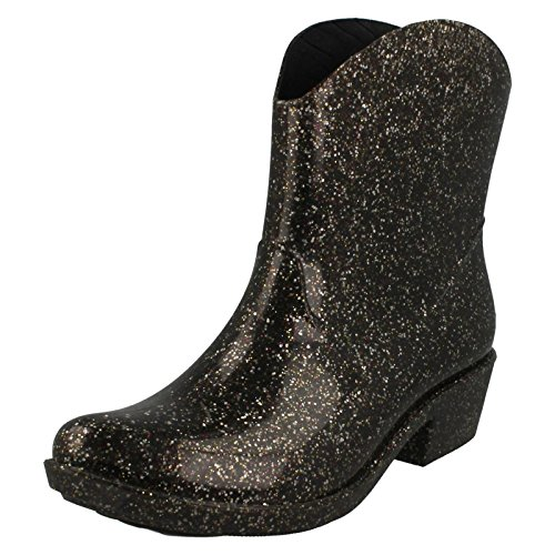 Ladies Spot On Cowboy Ankle Wellingtons Style - X1220