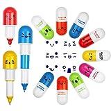 EMAGEREN Penne per capsule 24pz, Capsule per capsule retrattili, Penne per pillole, Mini Pillola, Ideale per regali per bambini/Adulti/Prodotti farmaceutici, Uso in ufficio/Classe/Casa