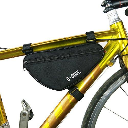 Riiya Fahrrad Radfahren Pouch Oberrohr Dreieck Rahmen-Pack-Bike Bag Black