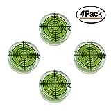 Lot de 4 niveaux à bulle ronds de précision 32 x 12 mm
