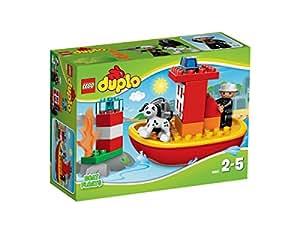 LEGO DUPLO Ville - 10591 - Jeu De Construction - Le Bateau Des Pompiers