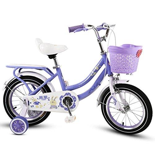 (Kinderfahrrad, Kinderfahrrad, 3-10 jähriges Mädchen-Reitfahrrad, purpurrot ( Size : 18 inch ))