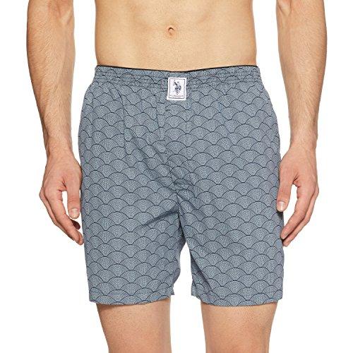 U.S. Polo Assn. Men's Boxers (I600_Navy Shells Tessellation_L)