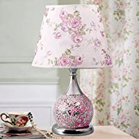 Liling European Table Lamp Bedroom Bedside Lamp Creative Warm and Adjustable Wedding Room Glass Desk lamp