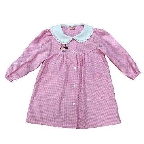 Minnie grembiule scuola bimba elementare con bottoni disney nuova collezione art. g010 (rosa, 50)
