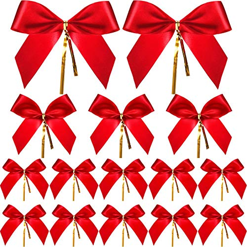 Sumind 36 Piezas Lazo Navidad Lazo Cinta Rojo Lazo