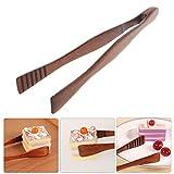 Manyo Holz Natur Zangen Lebensmittel für Küche Toast Bacon Steakmesser Zum Backen Zange Brotmesser-Tool Küche Clip