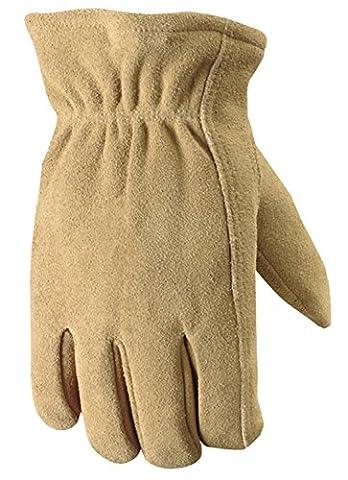 Mens Suede Deerskin Leather Winter Work Glove-LRG GRIPS LINED GLOVE