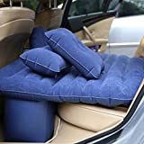 #4: indiana12 Car Inflatable Bed Outdoor Inflatable Travel Air Sofa Car Bed Inflatable Mattress Camping Pad Car Rear Seat Sofa(with repairing kit)