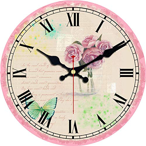 lujiangfeiA Wanduhr Fantasy Meerjungfrau Wandkunst DIY große Wanduhr unter dem Meer Party gefallen übergroße Wanduhr Ocean Beach House Decor(16inch) (Decor Party Pariser)
