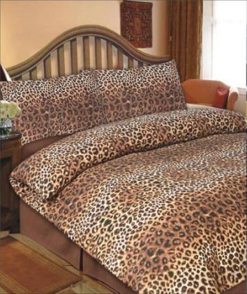 Viceroybedding Animal Print, Leopard Print, Single Duvet Cover Set